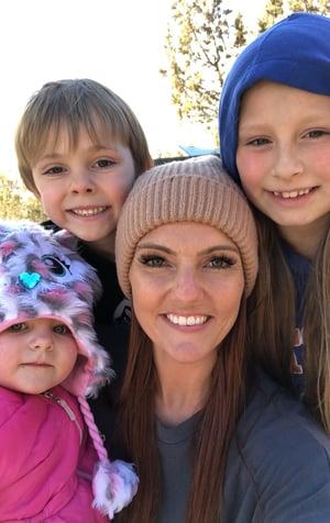Lexsie Howard and children