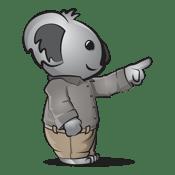 Koala pointing