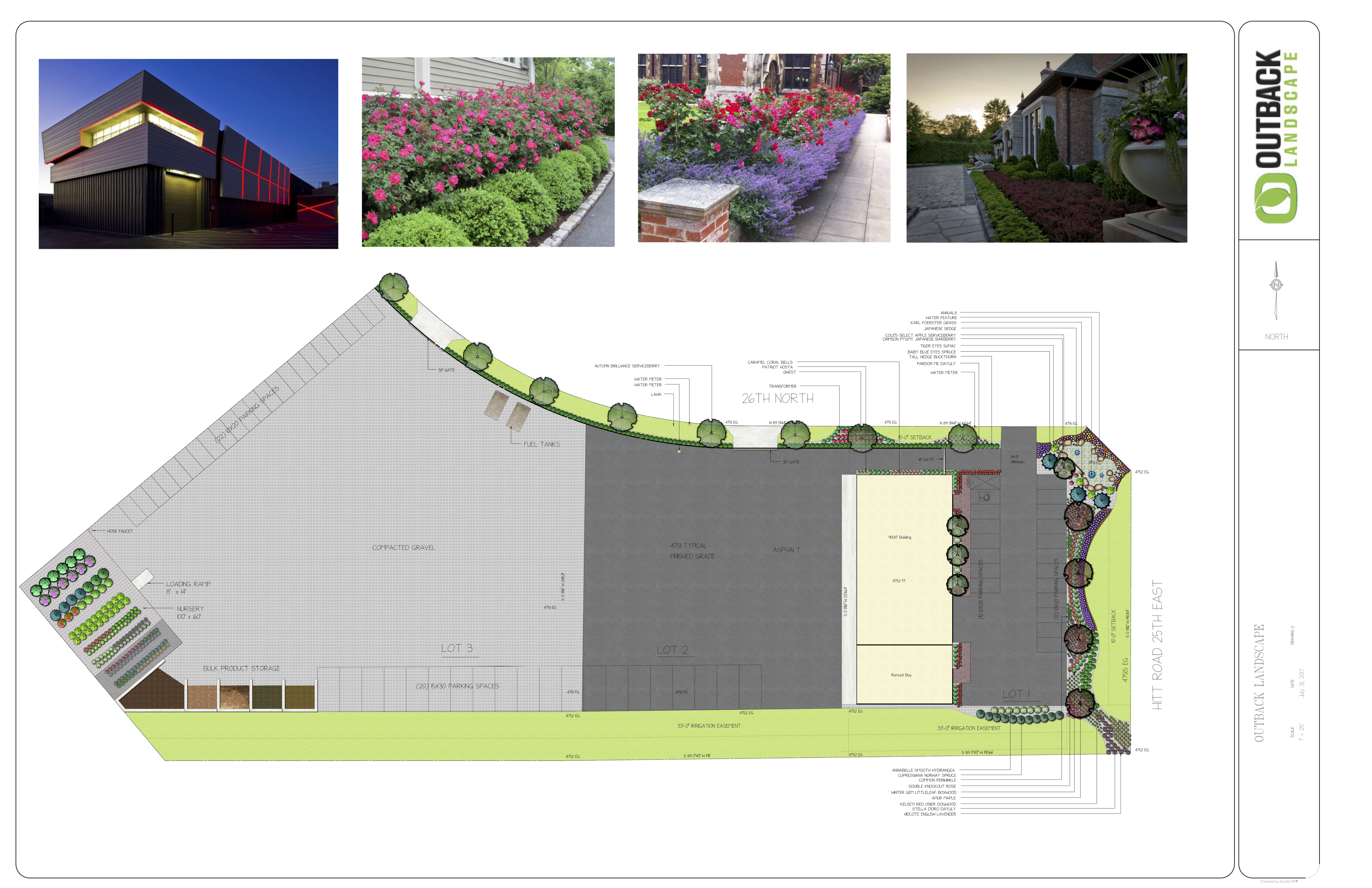 Outback Landscaping design and photos