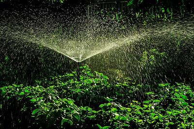 How much does a backyard sprinkler system cost