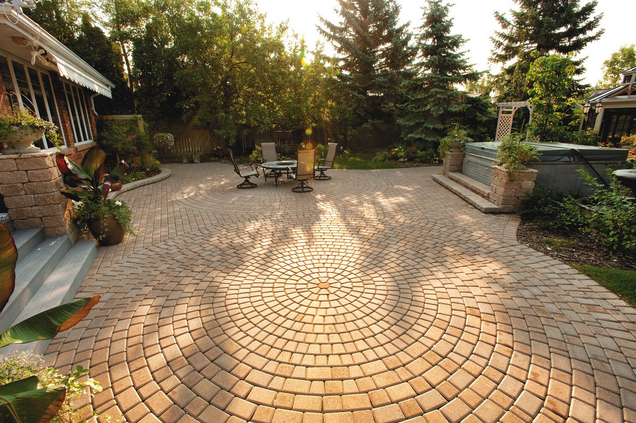 Paver stone patio by Outback Landscape in Idaho Falls