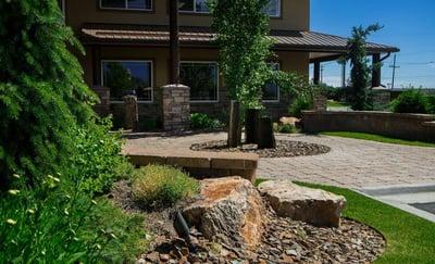 Beautiful residential low-maintenance landscape in Idaho