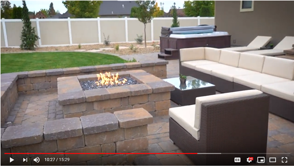landscape renovation fire pit